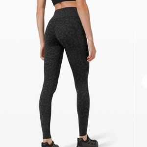 "NWT Lululemon Fast and Free HR 25"", Sz 6, FCMD"